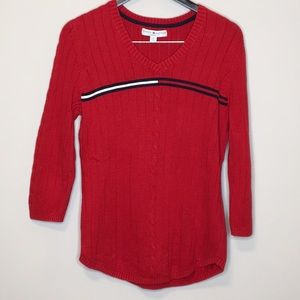 Tommy Hilfiger 1X Sweater Red Plus Size Woman